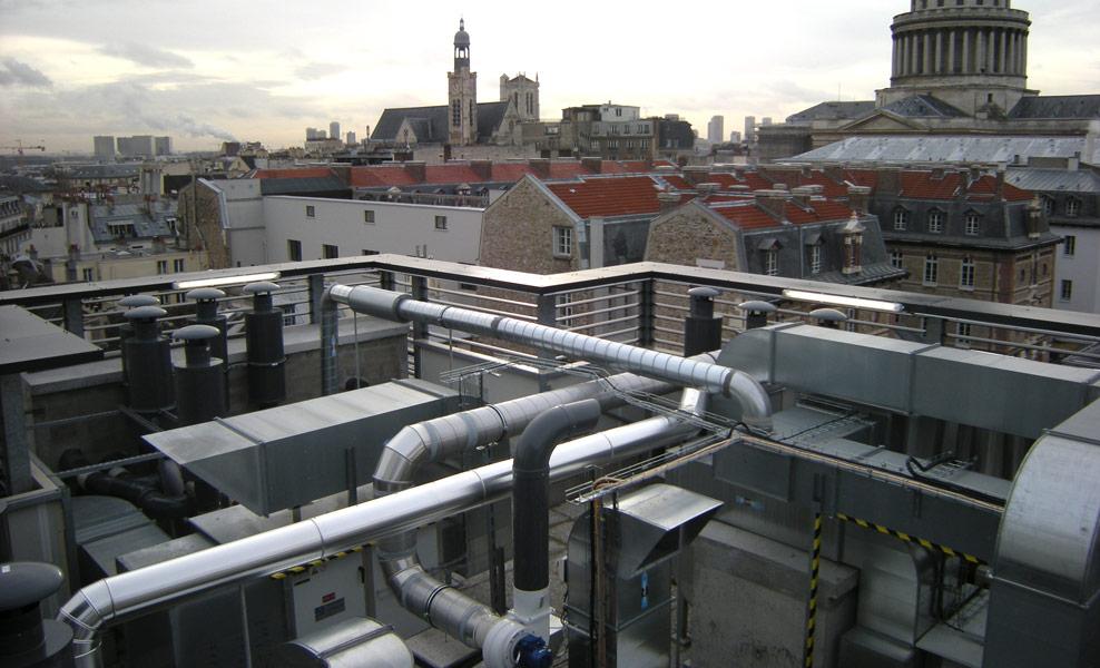 Fume hoods exhaust ducts